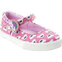 Girls' Bumbums & Baubles Olivia MJ Sneaker Pink Rainbows Canvas
