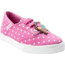 Girls' Bumbums & Baubles Spencer Sneaker Pink Polka Dot Canvas