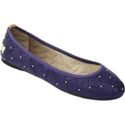 Women's Butterfly Twists Alexandra Blue Quilted Kidskin