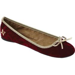 Women's Butterfly Twists Emma Crimson Crushed Velvet