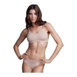 Women's Capezio Dance Seamless Clear Back Bra Nude 15747300