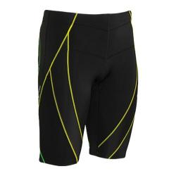 Men's CW-X Endurance Generator Shorts Black/Green/Yellow