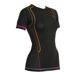 Women's CW-X Short-Sleeved Ventilator Web Top Black/Rainbow