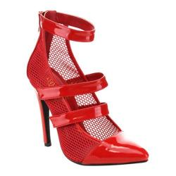 Women's Da Viccino Sassy-1 Caged Sandal Red
