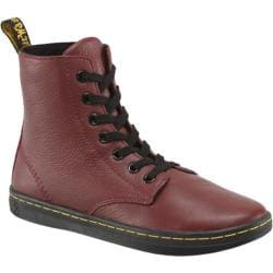 Women's Dr. Martens Leyton 7-Eye Boot Cherry Red Game On