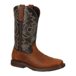 Men's Durango Boot DDB0053 12in Western Rebel Tan/Black Leather