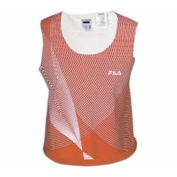 Women's Fila 6001646 Performance Sleeveless Top Rosso Corsa/White
