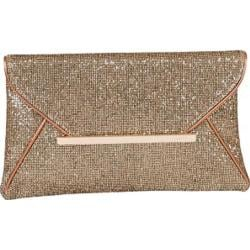 Women's J. Furmani 62342 Envelope Clutch Gold