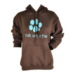 Jen's ideas Walk With A Friend Hoody Dark Brown