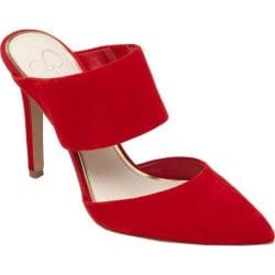 Women's Jessica Simpson Chandra Mule Red Muse Kidsuede