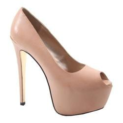 Women's Luichiny Mal Oree Stiletto Pump Nude Imi Leather 15751757