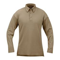 Propper ICE Performance Polo Long Sleeve Silver Tan