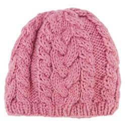 Women's San Diego Hat Company Cable Knit Beanie KNH3312 Blush