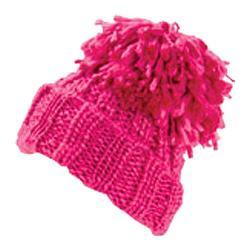 Women's San Diego Hat Company Pom Knit Beanie KNH3318 Shocking Pink