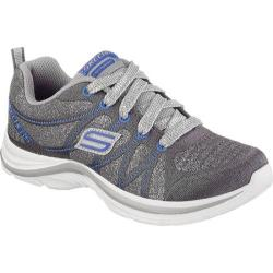 Girls' Skechers Swift Kicks Bling Thing Sneaker Charcoal/Royal