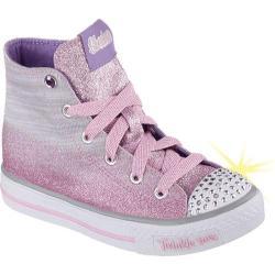 Girls' Skechers Twinkle Toes Shuffles Splendorific Gray/Pink