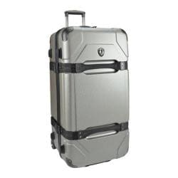 Traveler's Choice Maxporter 32in Rolling Cargo Trunk Luggage Silver