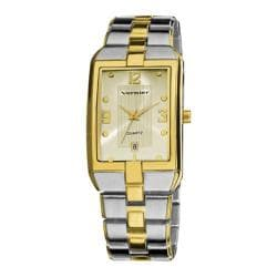 Men's Vernier VNR11137 Two-Tone Bracelet Calendar Display Watch Two Tone Alloy/Gold