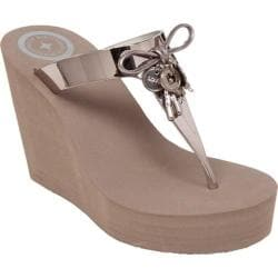 Women's BCBGeneration Hank Wedge Sandal Matte Bronze Jelly