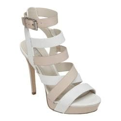 Women's BCBGeneration Mystic Platform Sandal White/Nude Blush Leather