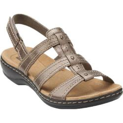 Women's Clarks Leisa Daisy Pewter Leather