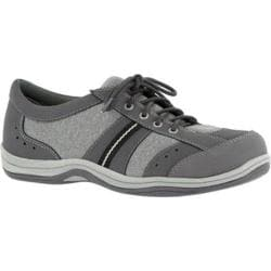 Women's Easy Street Emma Lace Up Grey Leather/Jersey