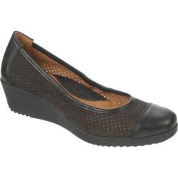 Women's Naturalizer Banner Black Nubuck Leather/Mirage PU
