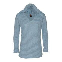 Women's Ojai Clothing Reversible Topa Hoody Cool Blue/Heather Grey