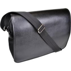 Men's Royce Leather Kensington Messenger Bag Black