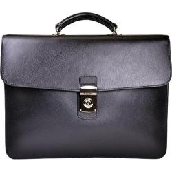 Royce Leather Kensington Single Gusset Briefcase Black