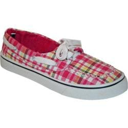 Women's Dawgs Kaymann Boat Shoe Pink Plaid