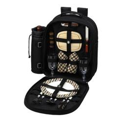 Picnic at Ascot Picnic Backpack for Two Black/London Plaid