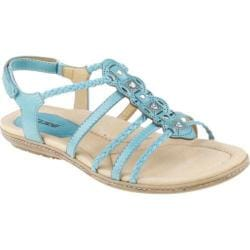 Women's Earth Bluff Light Teal Full Grain Leather