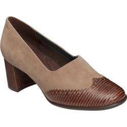 Women's Aerosoles Boxwood Chunky Heel Shoe Taupe Suede