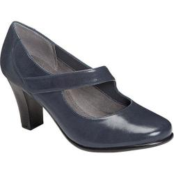 Women's Aerosoles Domino Mary Jane Dark Blue Leather