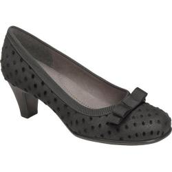 Women's Aerosoles Playhouse Black Mini Polka Dot