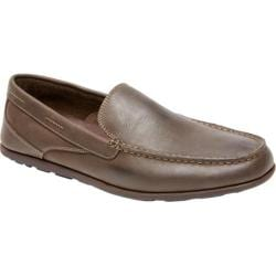Men's Rockport Bennett Lane Cape Noble 3 Venetian Dark Brown Smooth Leather