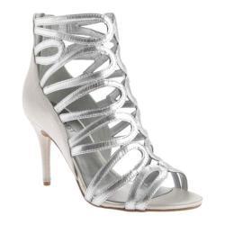 Women's Nine West Yolo Sandal Silver/Silver Metallic Foil Kid