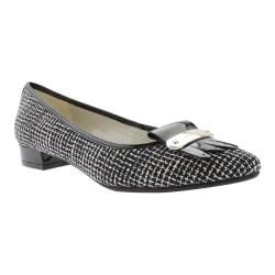 Women's Anne Klein Kallima Flat Black/White Multi Tweed/Patent PU