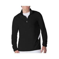 Men's Fila Fundamental Half Zip Jacket Black/White