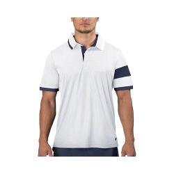 Men's Fila Heritage Placket Polo White/Peacoat
