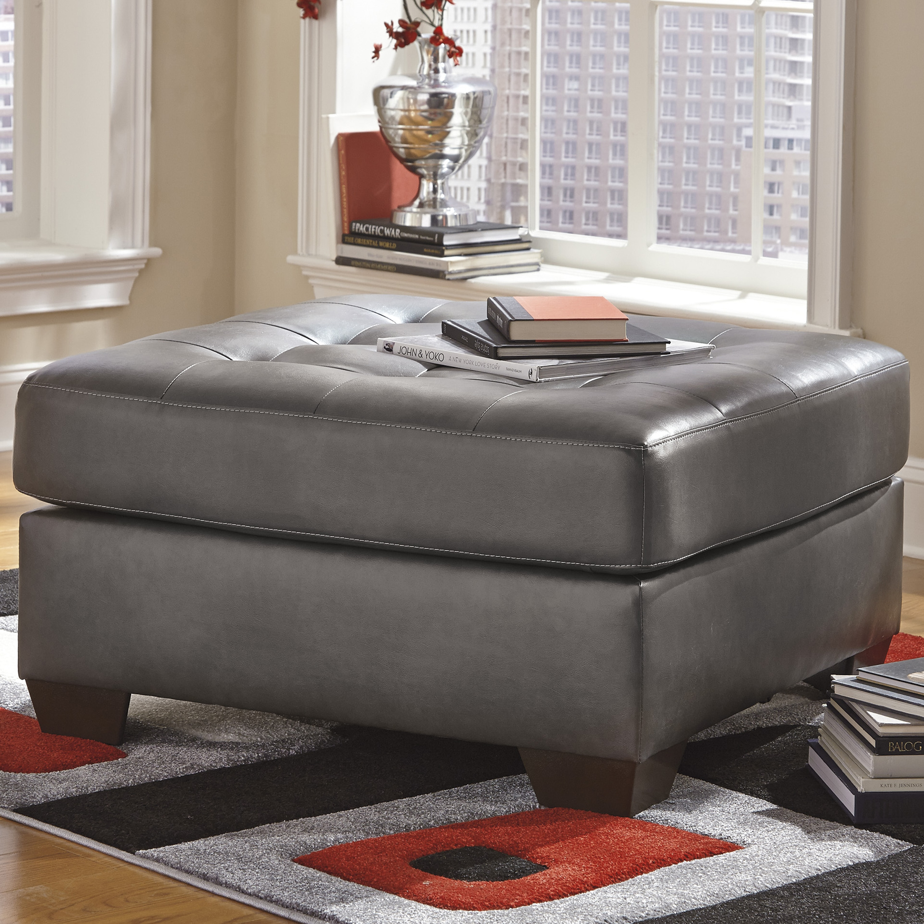 Alliston Grey DuraBlend Ottoman