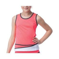Girls' Fila Diva Tank Diva Pink/White/Pirate Charcoal
