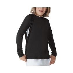 Boys' Fila Fundamental Long Sleeve Top Black/White