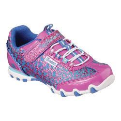 Girls' Skechers Bella Ballerina Prima Lil' Twister Sneaker Neon Pink/Blue