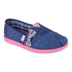 Girls' Skechers BOBS World Glitter Gal Slip On Blue/Pink