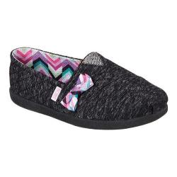 Girls' Skechers BOBS World Quilted Cuties Slip On Black
