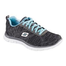 Women's Skechers Flex Appeal Pretty City Training Shoe Black/Light Blue