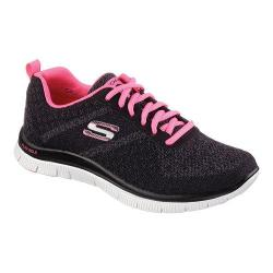 Women's Skechers Flex Appeal Training Shoe Simply Sweet/Black/Hot Pink Mesh Fabric