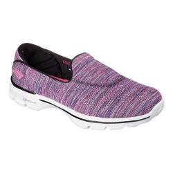 Women's Skechers GOwalk 3 FitKnit Extreme Walking Shoe Black/Multi